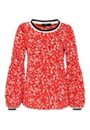 Hallhuber Print Blouse With Bell Sleeves