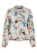 Hallhuber Exotic Print Blouson With Knitted Cuffs