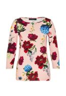 Hallhuber Floral Shirt With Three-Quarter Sleeves