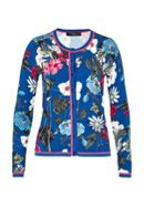 Hallhuber Cardigan With Tropical Print And Lurex