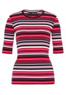 Hallhuber Striped T-Shirt With Rib Texture