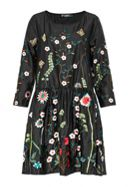 Hallhuber Relaxed-Cut Dress With Embroidery