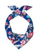 Hallhuber Square Silk Scarf With Floral Print
