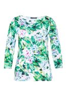 Hallhuber Jersey Blouse With Hydrangea Print