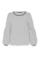 Hallhuber Polka Dot Blouse With Balloon Sleeves
