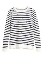 Sandwich Stripe cotton sweat jumper