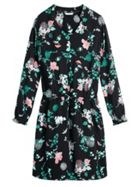 Sandwich Asian Flowers Crepe Dress