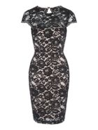 Jane Norman Scallop Lace Bodycon Dress