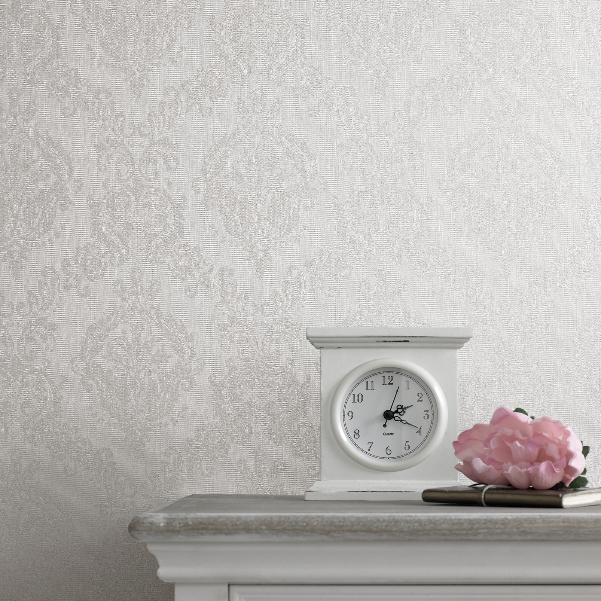 graham  brown ivory shimmer damask wallpaper  house of fraser -