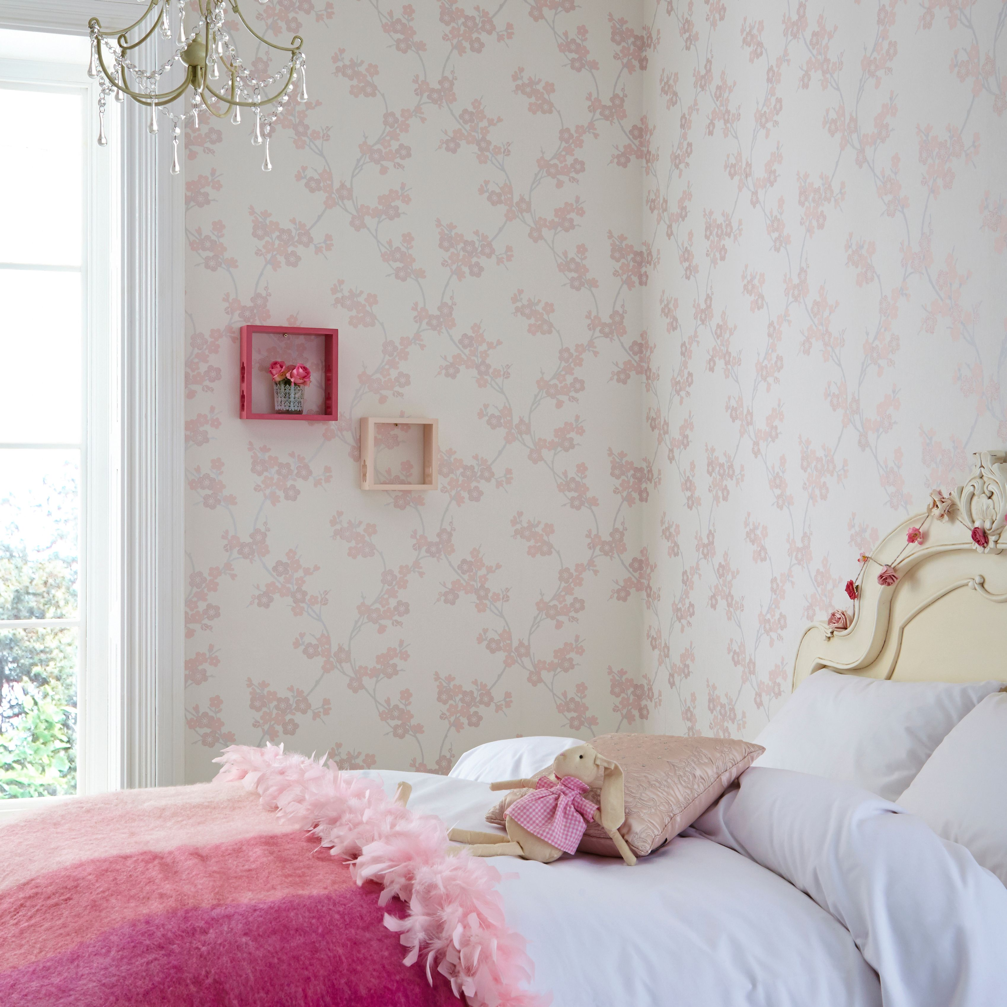 Graham Brown Pink Cherry Blossom Wallpaper
