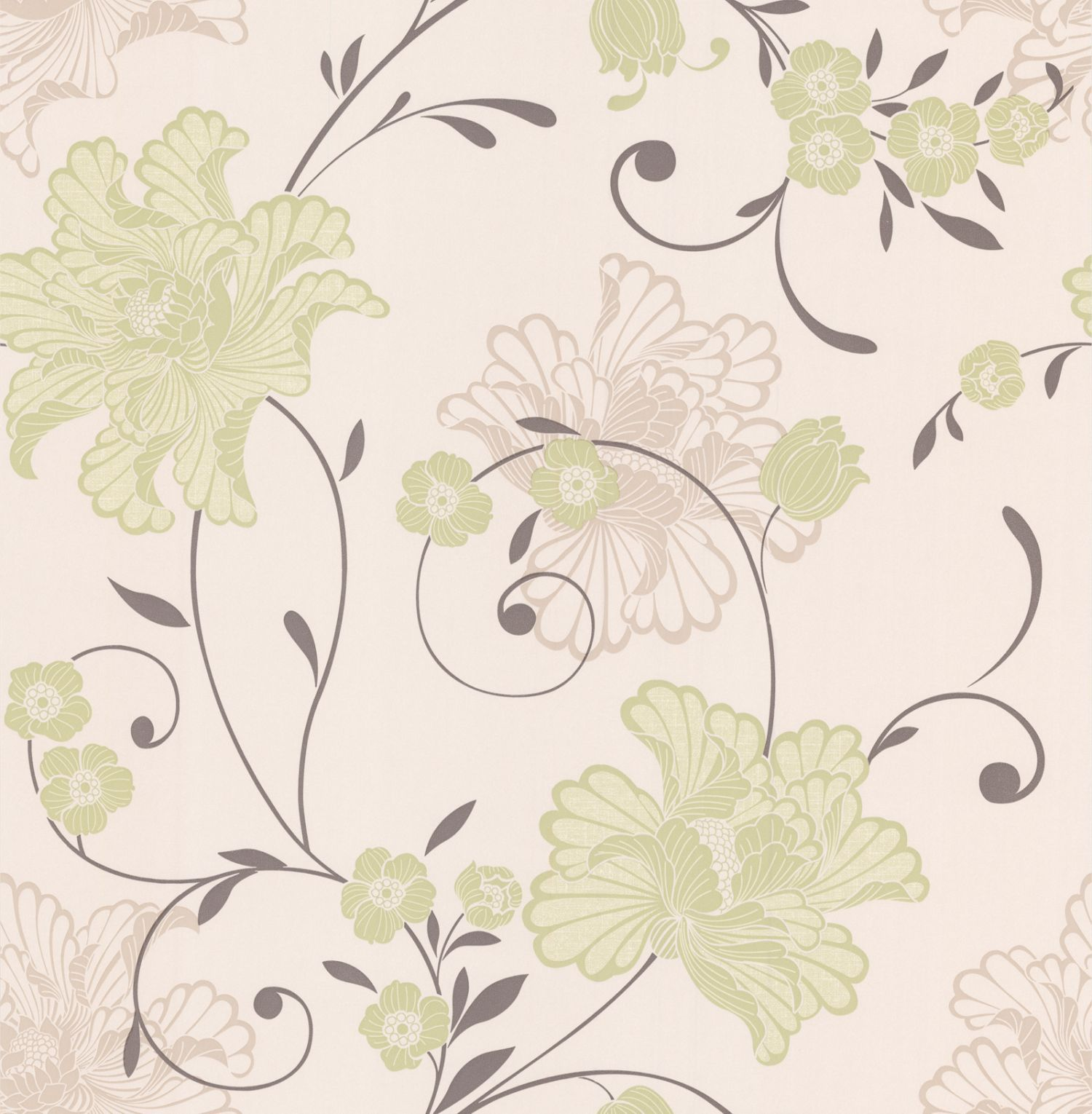 Graham Brown Green Spring Taffetia Wallpaper House Of Fraser - Green and brown wallpaper