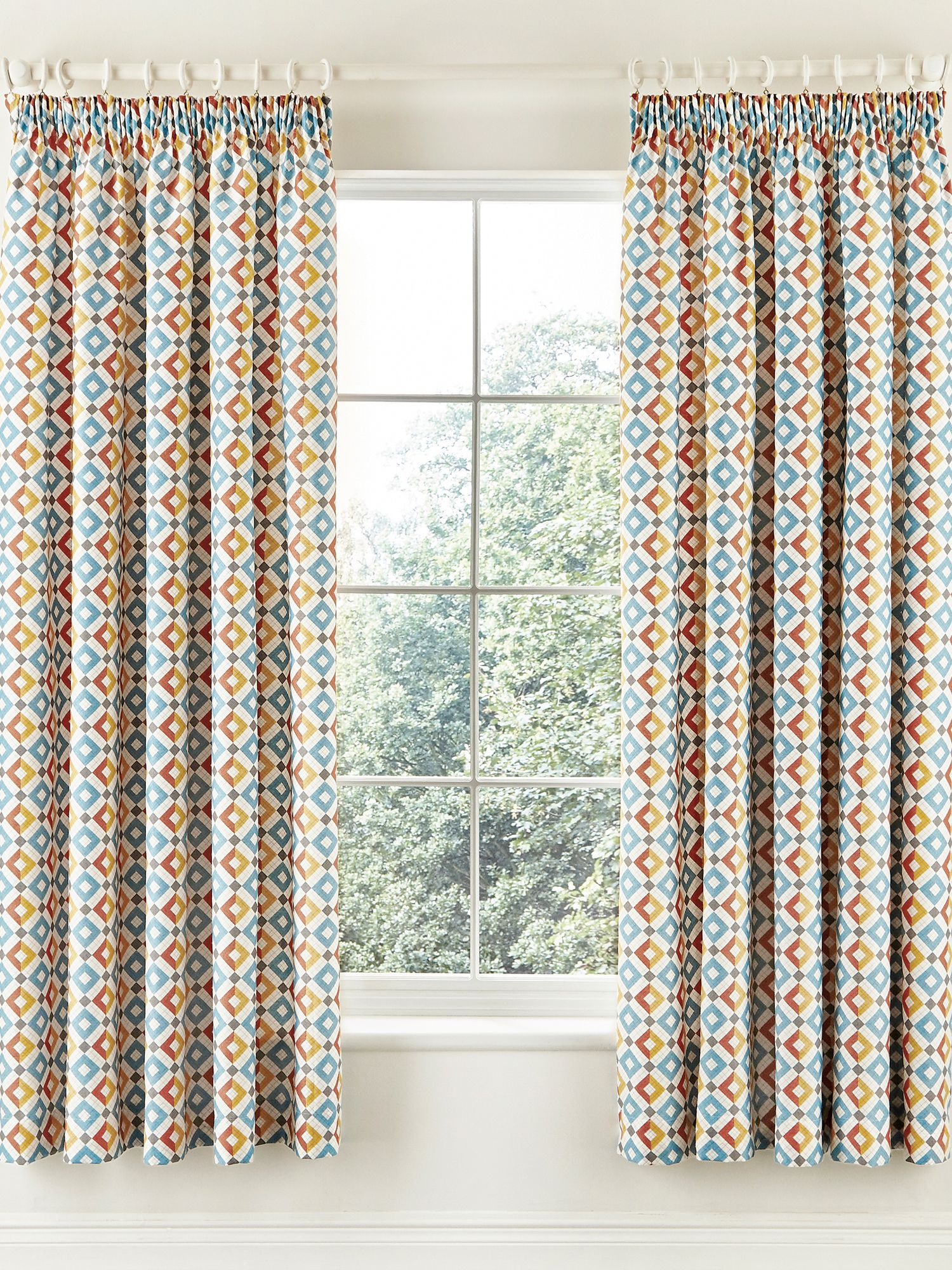 Lace Eyelet Curtains - V a pompeii curtains 66x72in multi coloured