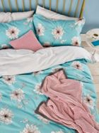 Joules Linear Peony Standard Pillowcase