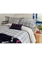 Joules Neeson Marl Check Duvet Cover