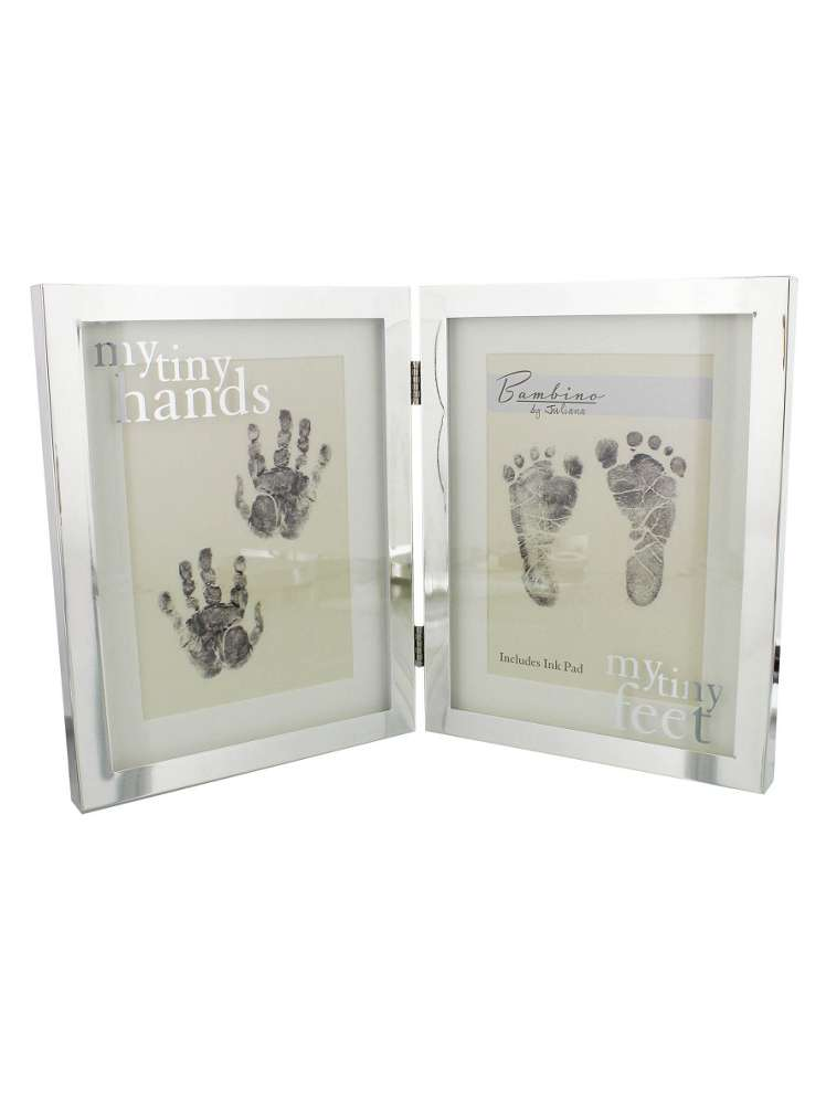 Bambino Silver Plated Frame Tiny Hands & Feet - House of Fraser