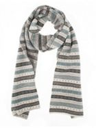 Dents Dents Womens Fairisle Knit Scarf