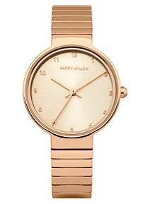 Karen Millen Ladies rose gold tone bracelet watch ... dd157815f3