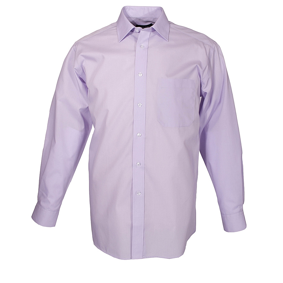 Double TWO Non iron poplin long sleeve shirt Lilac