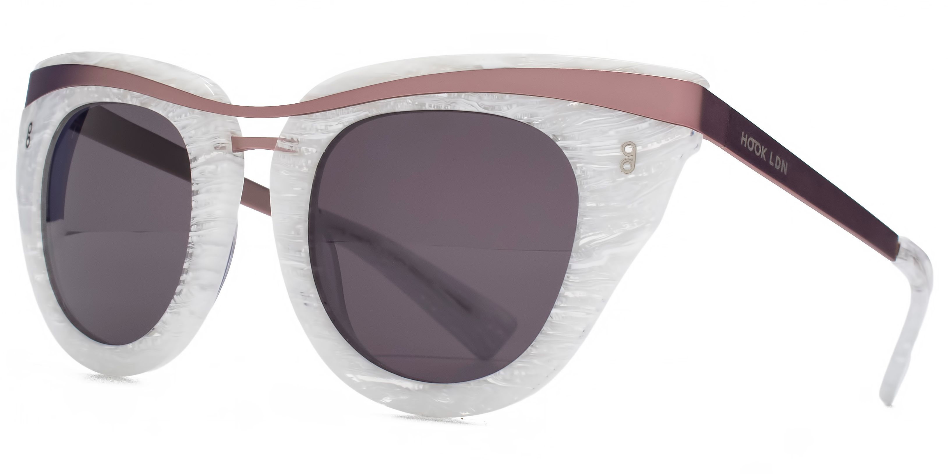 Hook LDN 26HK010- WHT Cateye Sunglasses