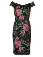Gina Bacconi Avril Floral Embroidery Dress