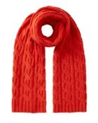 Jigsaw Cable Knit Cashmere Scarf