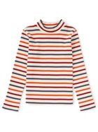 Jigsaw Stripey Rib Polo Neck