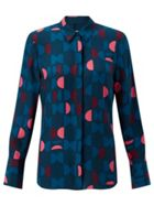 Jigsaw Oval Geo Silk Blouse