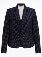 Jigsaw Polka Dot London Jacket