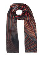 Stripe Silk Scarf