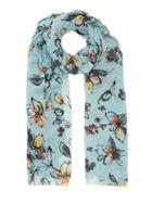 Jigsaw Dynamic Floral Cotton Scarf