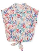 Jigsaw Girls Coastal Reef Printed Tie Shirt