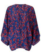 Jigsaw Cyclamen Floral Silk Cape