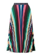 Jigsaw Multi Stripe Pleated Skirt