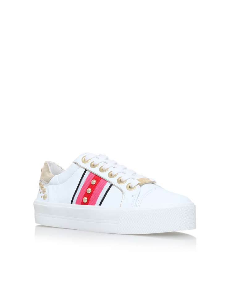 CARVELA Lax embellished leather trainers White - I5650