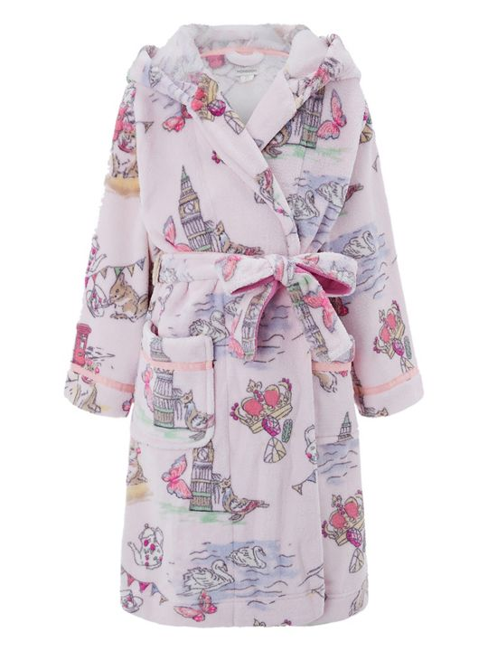 Monsoon Girls' Laila London Print Chunky Robe