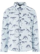 Monsoon Boys Fossil Print Long Sleeve Shirt