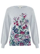 Monsoon Klara Floral Placed Print Jumper