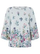Monsoon Gemma Floral Placement Print Top