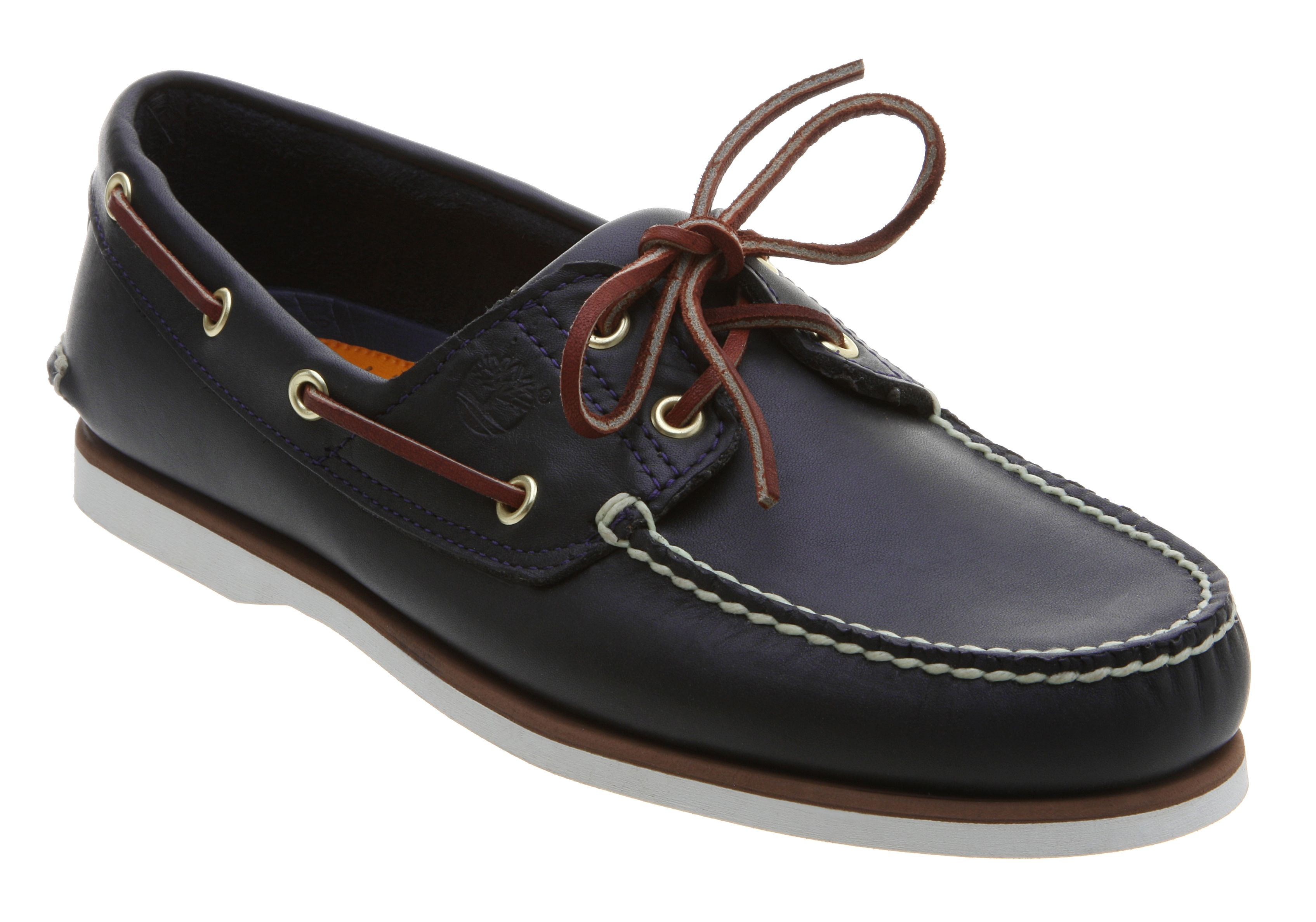 timberland boat shoe exclusive navy tan leather