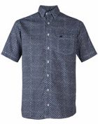 Men's Double TWO Diamond Patterned Short Sleeved Shirt