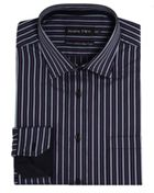 Men's Double TWO Satin Stripe Formal Shirt