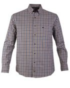 Men's Double TWO Button Down Checked Casual Shirt