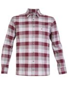 Men's Double TWO Checked Warm Handle Casual Shirt