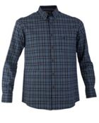 Men's Double TWO 100 Cotton Checked Casual Shirt