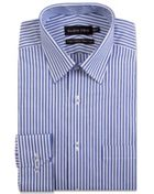 Men's Double TWO Bengal Stripe Formal Shirt