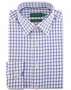 Men's Double TWO Grid Check 100 Brushed Cotton