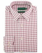 Men's Double TWO Grid Check Brushed Cotton Formal