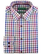 Men's Double TWO 100 Brushed Cotton Check Shirt