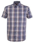 Men's Double TWO Short Sleeve Wesley Check Shirt