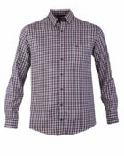 Men's Double TWO Checked Button Down Collar Casual